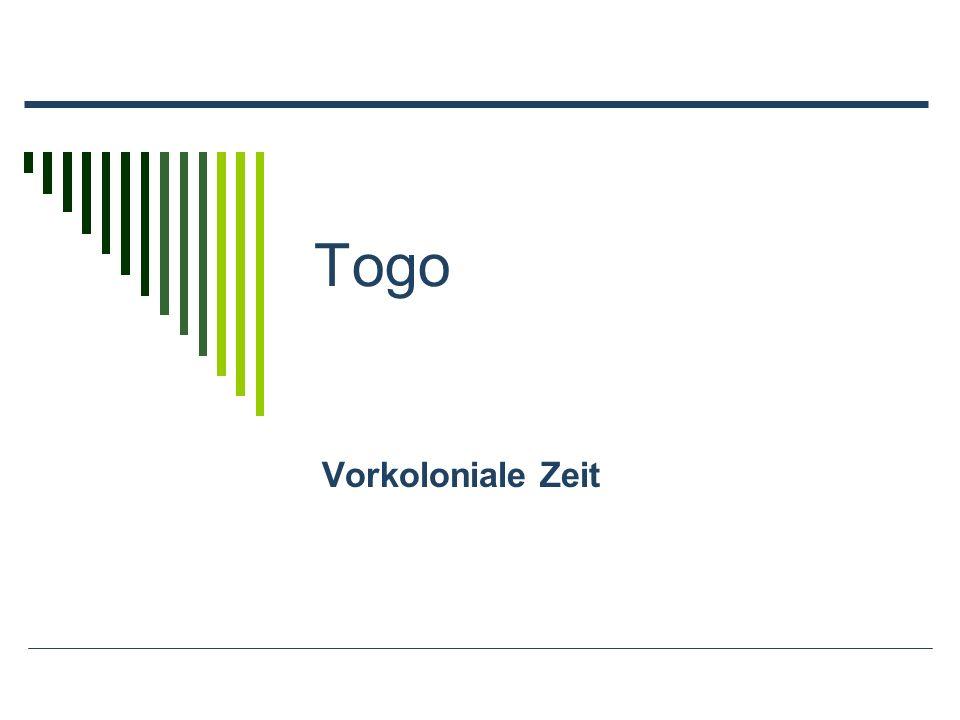 Togo Vorkoloniale Zeit