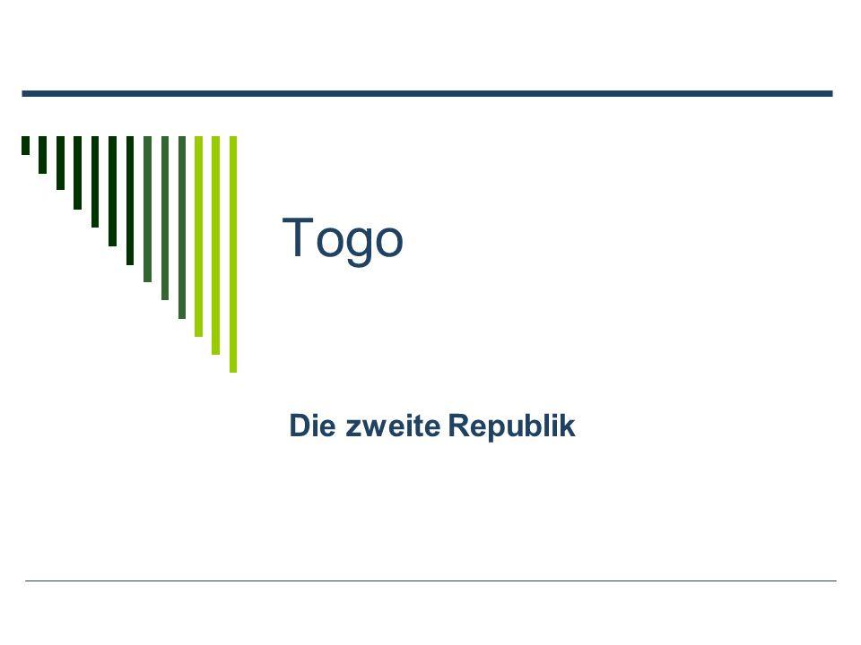 Togo Die zweite Republik