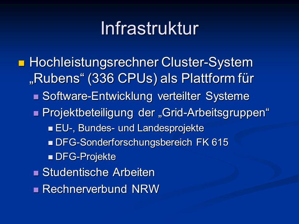 Infrastruktur Hochleistungsrechner Cluster-System Rubens (336 CPUs) als Plattform für Hochleistungsrechner Cluster-System Rubens (336 CPUs) als Plattf