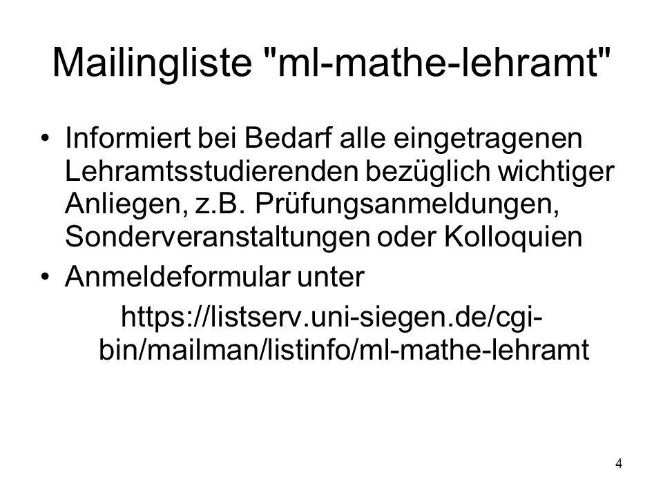 4 Mailingliste