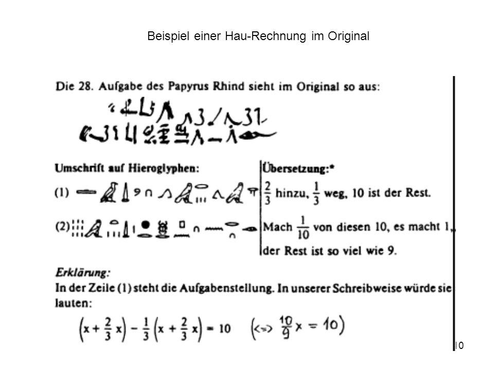 10 Beispiel einer Hau-Rechnung im Original