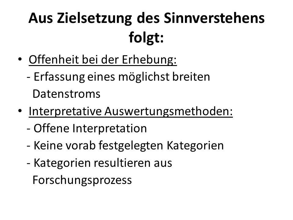 Fazit: Sinnverstehen, Offenheit (der Erhebung) und Interpretativität (der Auswertung) als konstitutive Merkmale qualitativer Sozialforschung