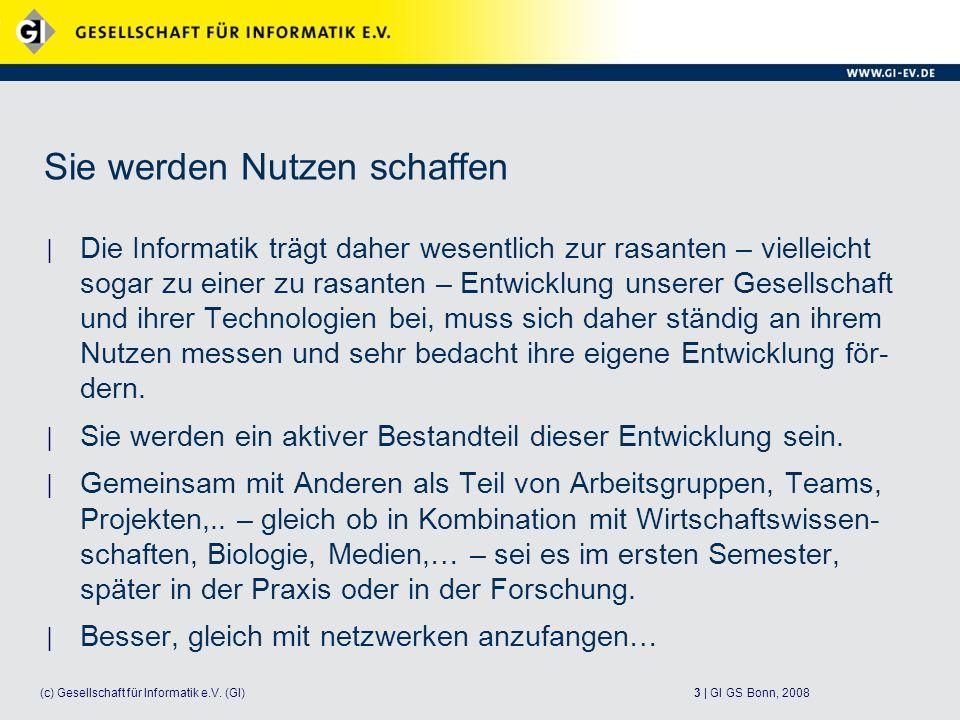 3 | GI GS Bonn, 2008(c) Gesellschaft für Informatik e.V.