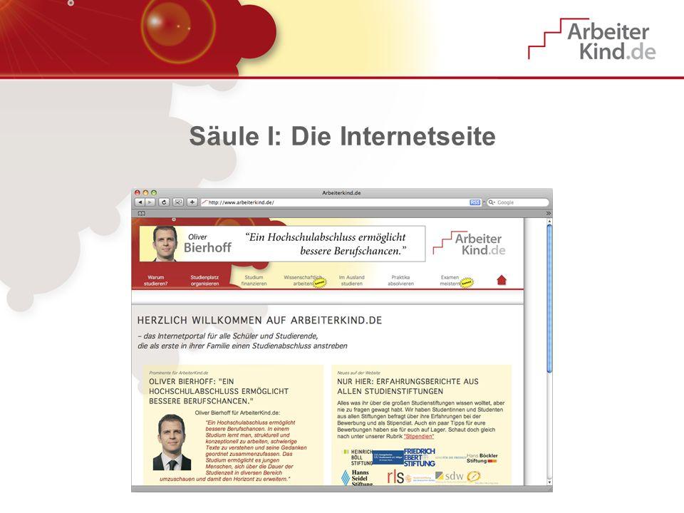 Säule I: Die Internetseite
