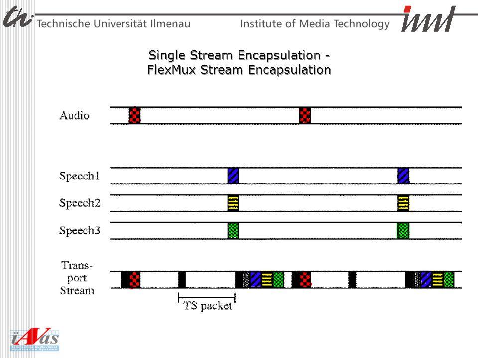 Single Stream Encapsulation - FlexMux Stream Encapsulation