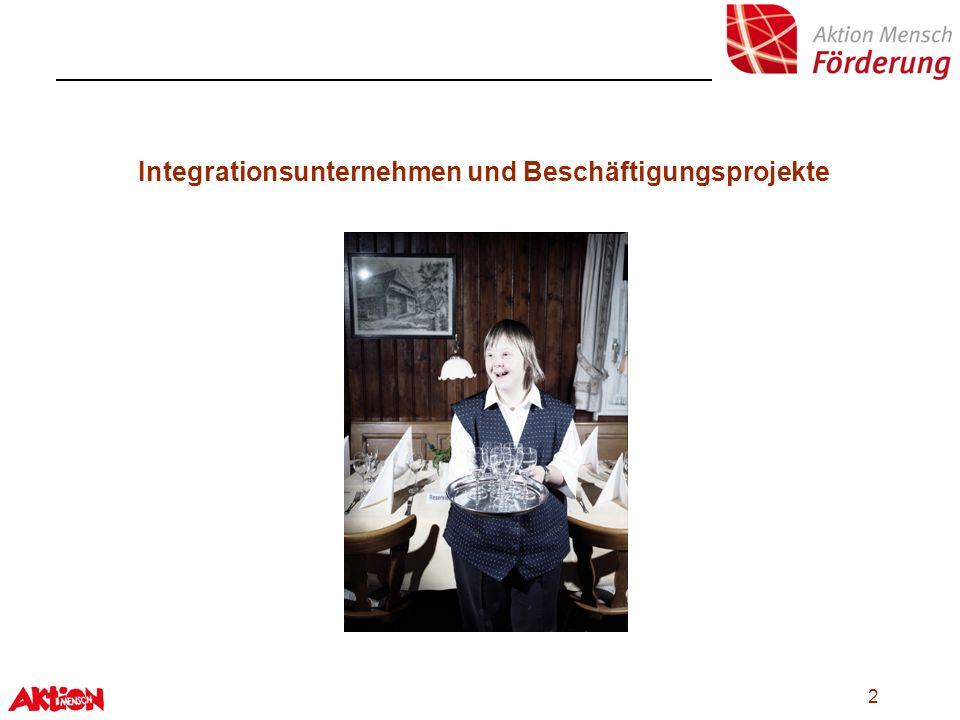 2 Integrationsunternehmen und Beschäftigungsprojekte