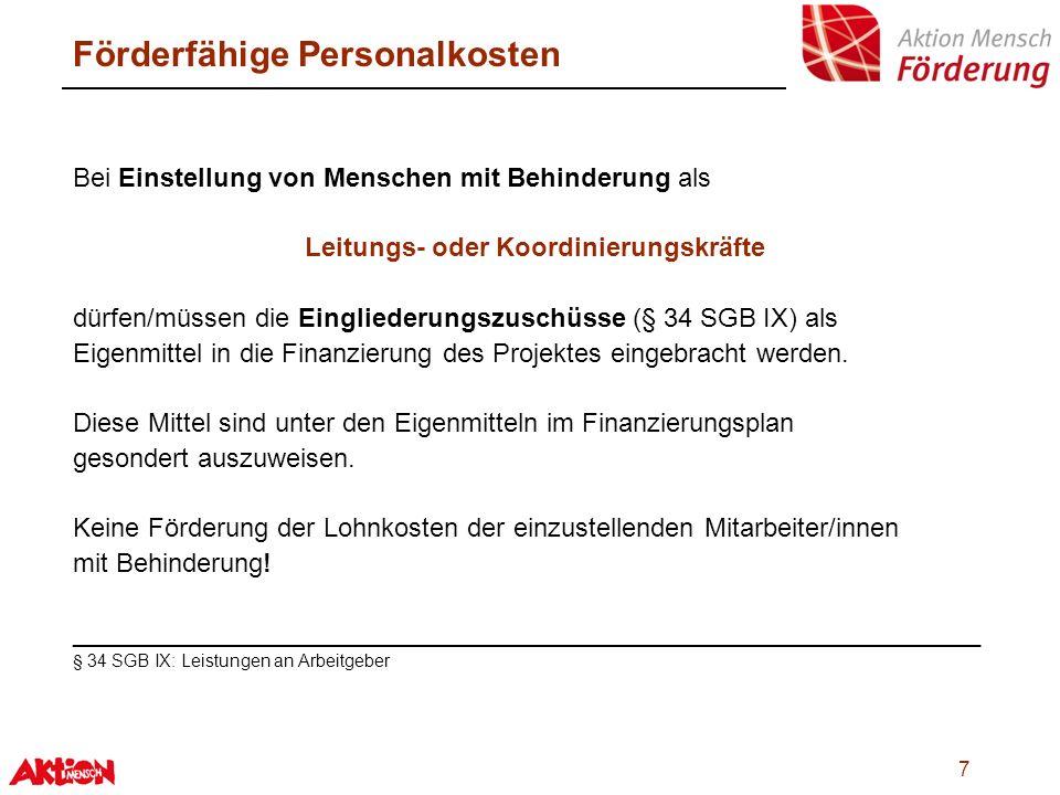 18 Integrations- & Beschäftigungsprojekte Sicherung und Stabilisierung Mögliches Förderspektrum: externe Beratung Umstrukturierung Implementierung neuer Produkte bzw.