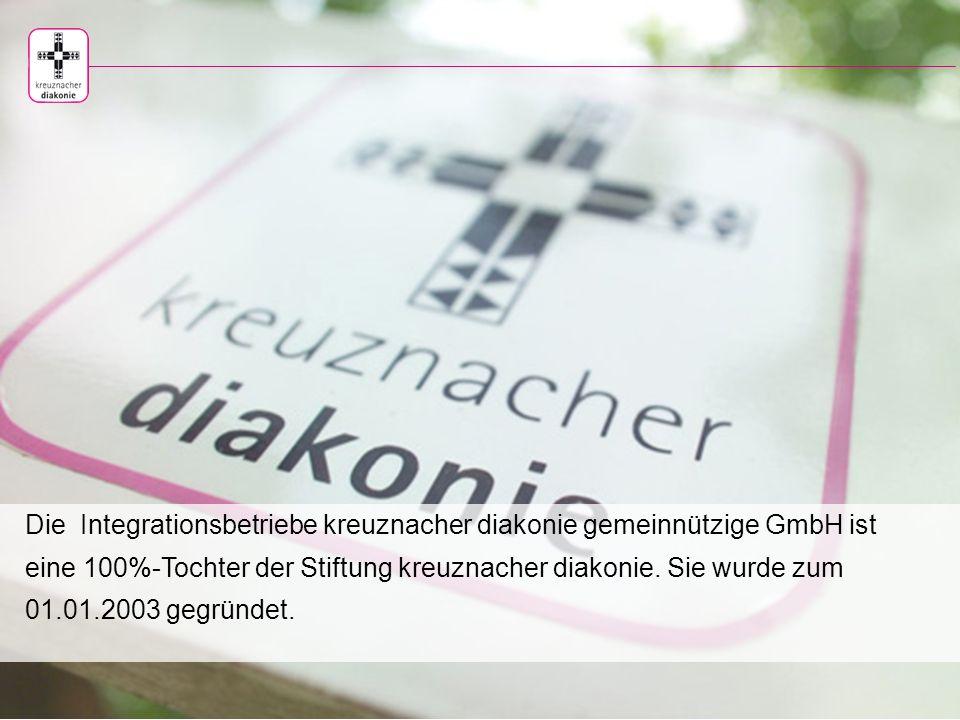 Integrationsbetriebe kreuznacher diakonie gemeinnützige GmbH Stiftung kreuznacher diakonie · nicht aufhören anzufangen gegründet 1889
