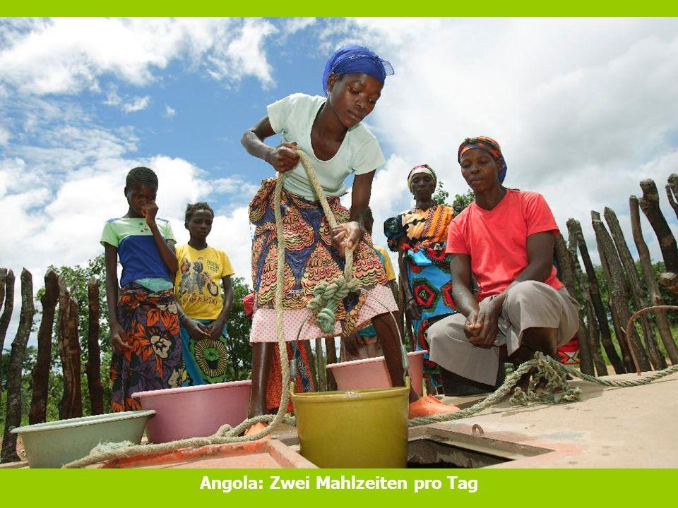 Angola: Zwei Mahlzeiten pro Tag