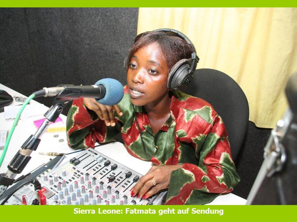 Sierra Leone: Fatmata geht auf Sendung