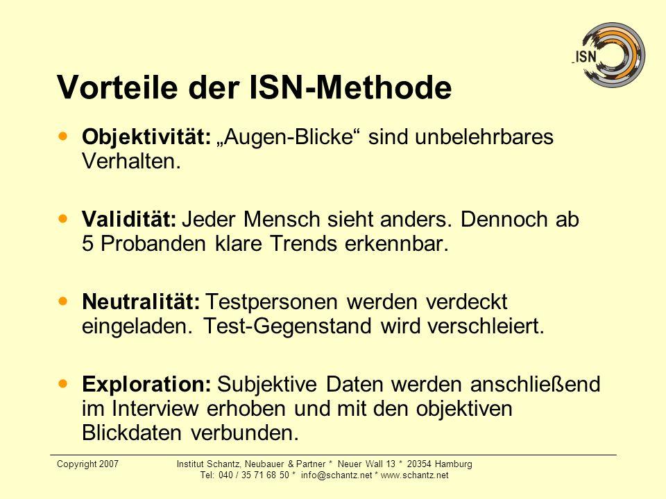 Copyright 2007Institut Schantz, Neubauer & Partner * Neuer Wall 13 * 20354 Hamburg Tel: 040 / 35 71 68 50 * info@schantz.net * www.schantz.net Vorteil