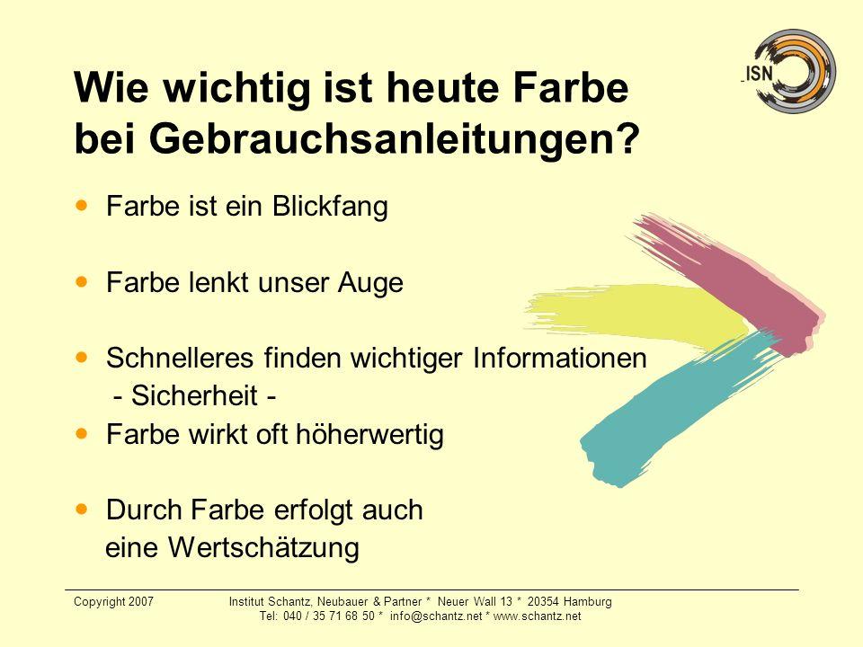 Copyright 2007Institut Schantz, Neubauer & Partner * Neuer Wall 13 * 20354 Hamburg Tel: 040 / 35 71 68 50 * info@schantz.net * www.schantz.net Wie wic