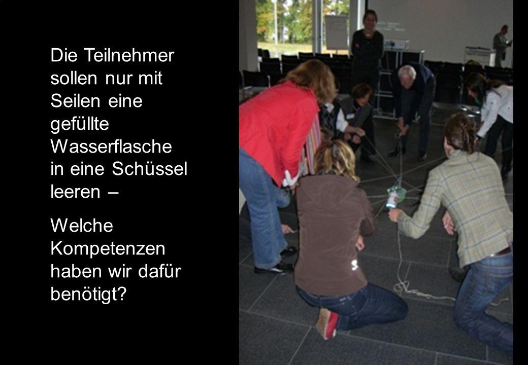 Seite 15 © Gesellschaft für Ausbildungsforschung und Berufsentwicklung – GAB Münchenwww.gab-muenchen.de Die Teilnehmer sollen nur mit Seilen eine gefü