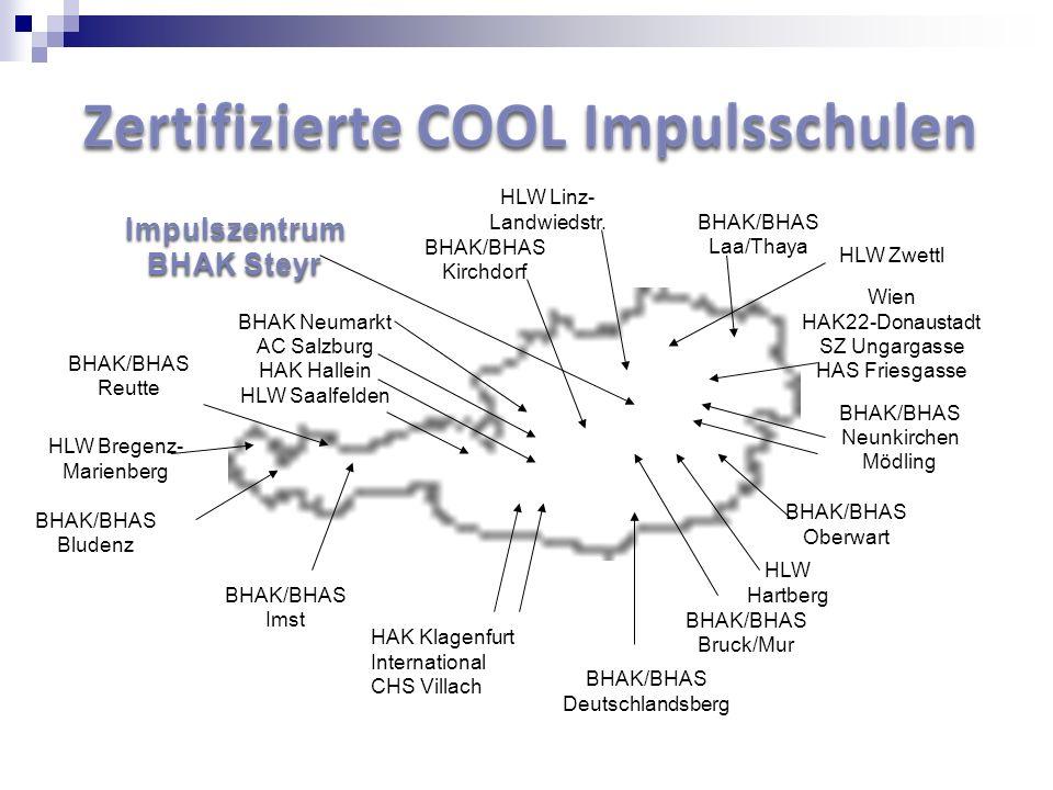 HAK Klagenfurt International CHS Villach BHAK/BHAS Bludenz BHAK/BHAS Reutte BHAK/BHAS Imst BHAK/BHAS Deutschlandsberg BHAK/BHAS Bruck/Mur BHAK/BHAS Ob