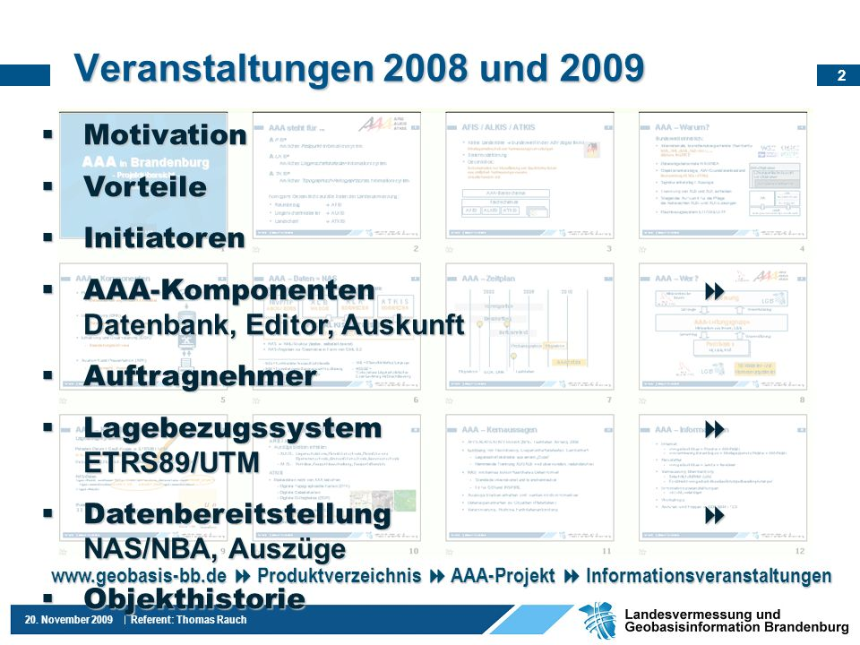 13 20. November 2009 Referent: Thomas Rauch