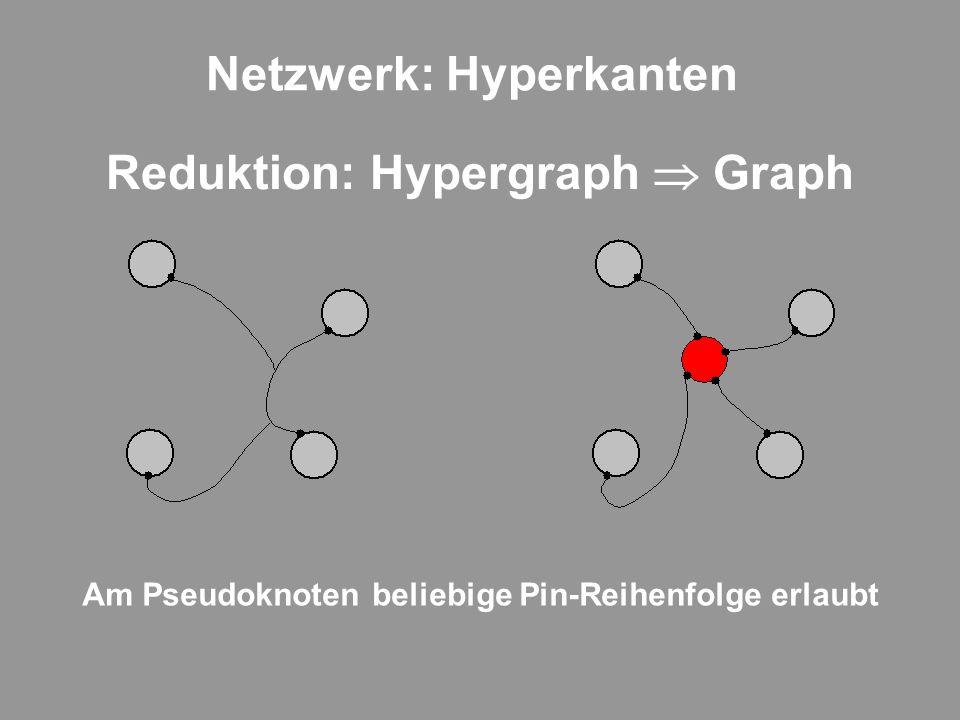 Netzwerk: Hyperkanten Reduktion: Hypergraph Graph Am Pseudoknoten beliebige Pin-Reihenfolge erlaubt