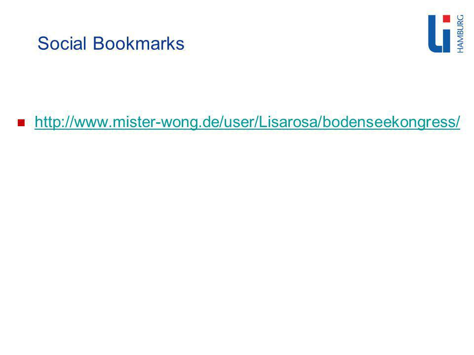 Social Bookmarks http://www.mister-wong.de/user/Lisarosa/bodenseekongress/