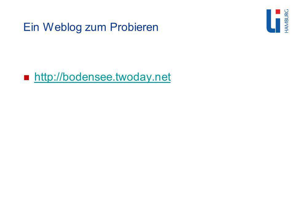 Ein Weblog zum Probieren http://bodensee.twoday.net