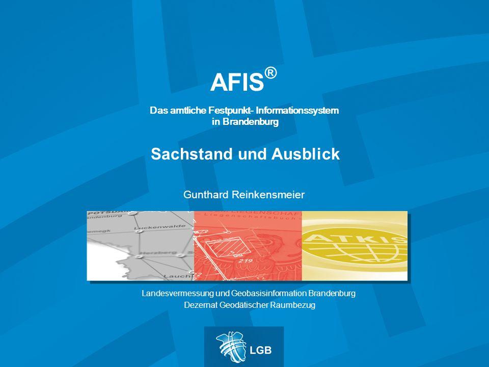 2 30.November 2009 Referent: Gunthard Reinkensmeier AFIS ist...