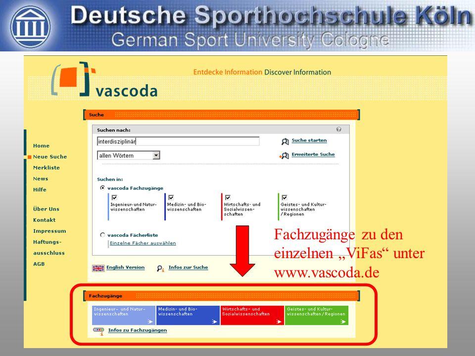 Leipzig, 24.9.200517. dvs-Hochschultag / Johannsen: ViFa Sport6