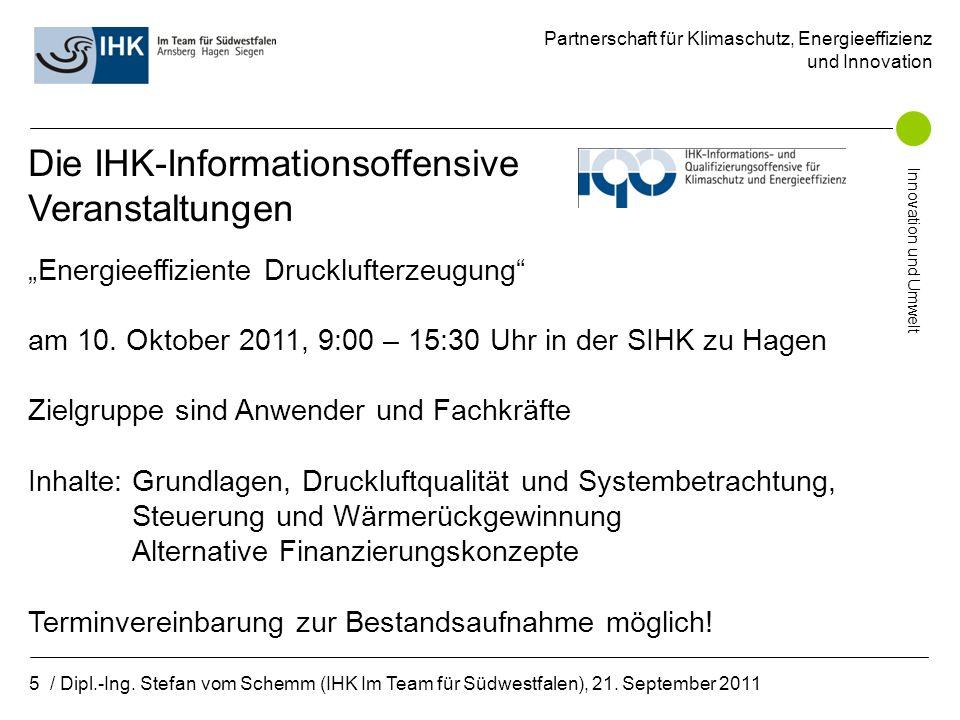 Partnerschaft für Klimaschutz, Energieeffizienz und Innovation Innovation und Umwelt 6 / Dipl.-Ing.