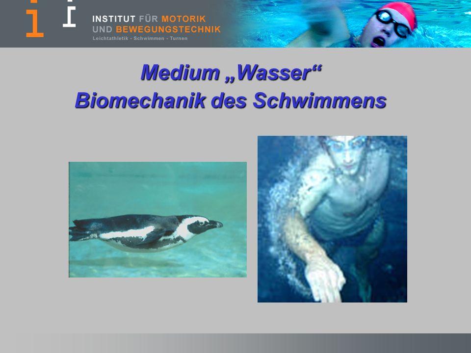 Medium Wasser Biomechanik des Schwimmens