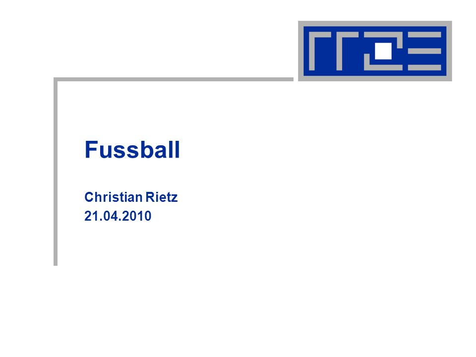 Fussball Christian Rietz 21.04.2010