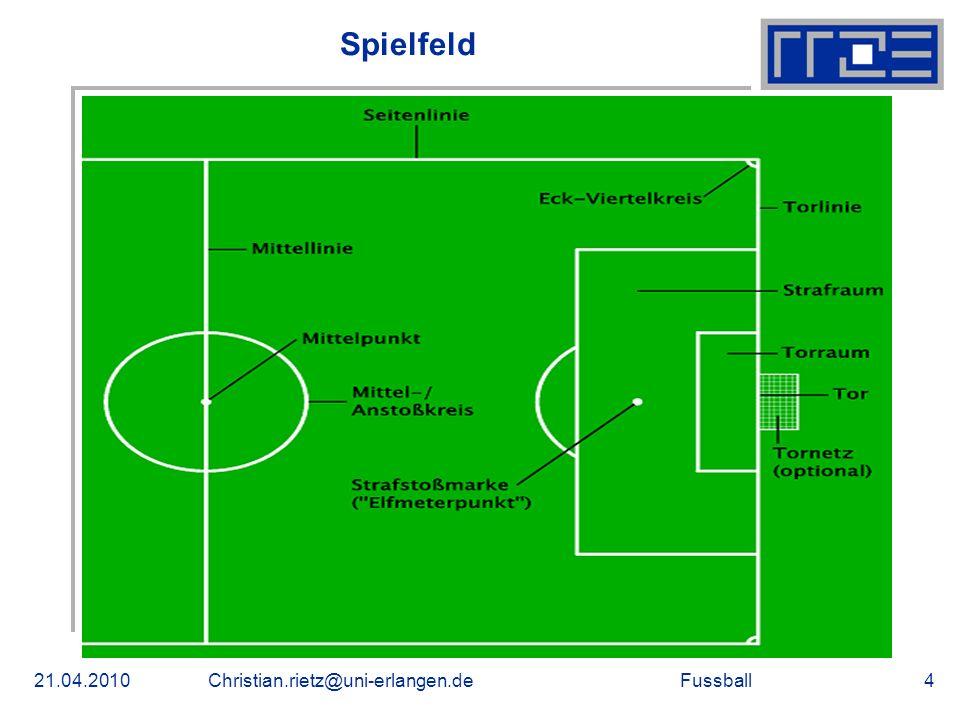 Fussball Spielfeld 21.04.2010Christian.rietz@uni-erlangen.de4