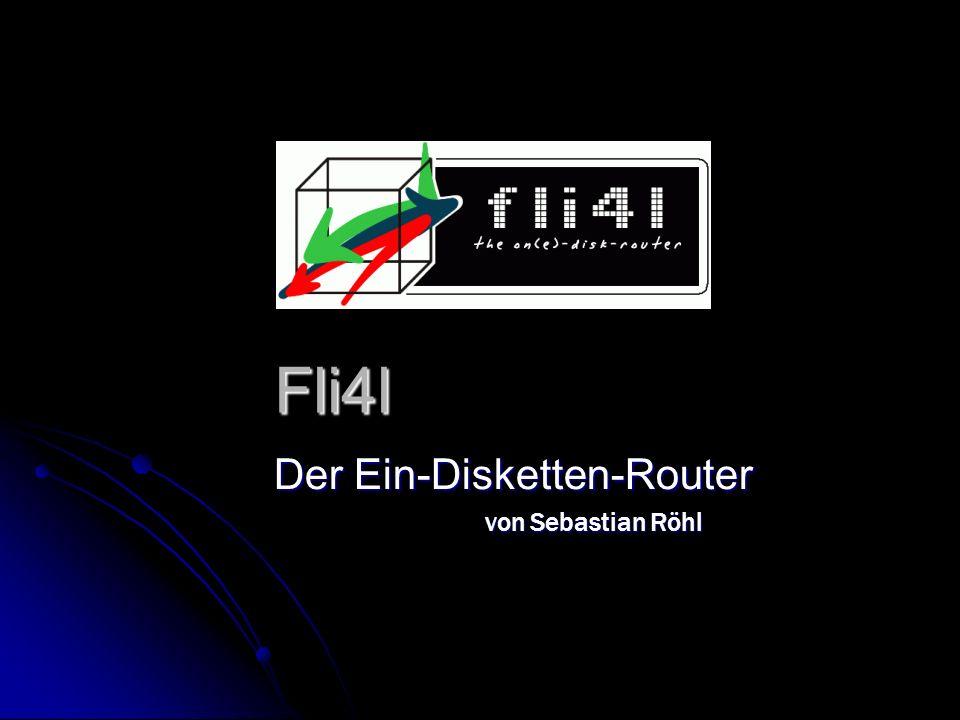 Fli4l Der Ein-Disketten-Router von Sebastian Röhl von Sebastian Röhl