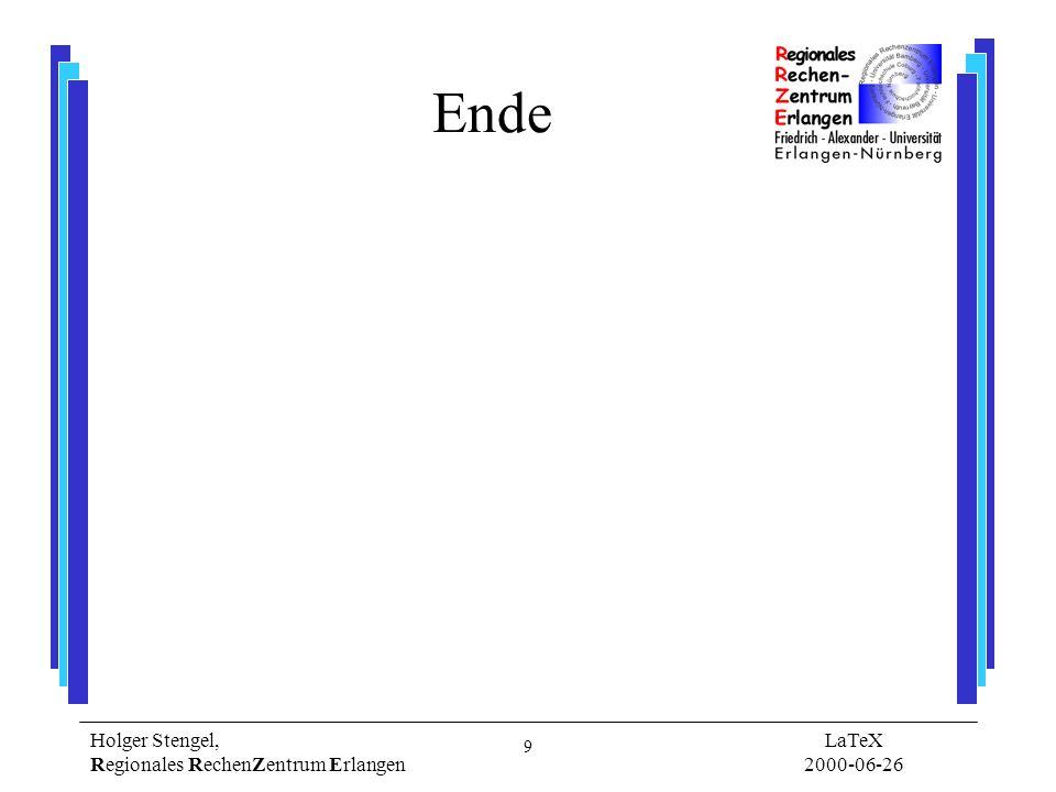 10 Holger Stengel, Regionales RechenZentrum Erlangen LaTeX 2000-06-26 Eingabedatei (.tex) \documentclass[11pt,a4paper]{article} \usepackage{ngerman} \usepackage{graphics} \begin{document} \begin{center} \hline Hallo Welt.