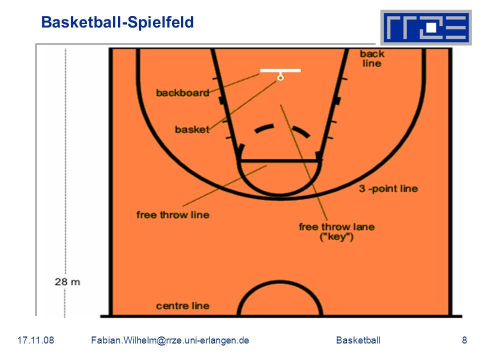 Basketball17.11.08Fabian.Wilhelm@rrze.uni-erlangen.de9 Spielerverteilung