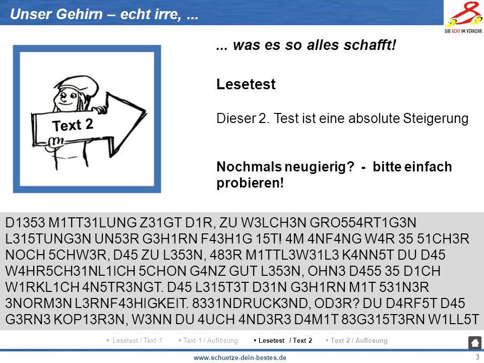 www.schuetze-dein-bestes.de 4 Unser Gehirn – echt irre,......