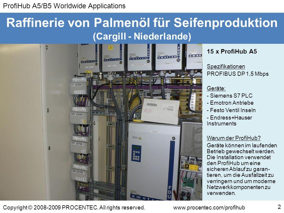 ProfiHub A5/B5 Worldwide Applications Copyright © 2008-2009 PROCENTEC. All rights reserved.www.procentec.com/profihub 2 (Cargill - Niederlande) Raffin