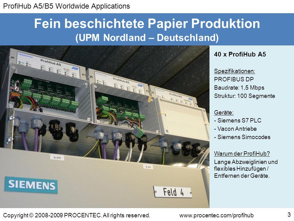 ProfiHub A5/B5 Worldwide Applications Copyright © 2008-2009 PROCENTEC. All rights reserved.www.procentec.com/profihub 3 (UPM Nordland – Deutschland) F