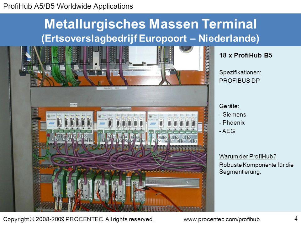 ProfiHub A5/B5 Worldwide Applications Copyright © 2008-2009 PROCENTEC. All rights reserved.www.procentec.com/profihub (Ertsoverslagbedrijf Europoort –