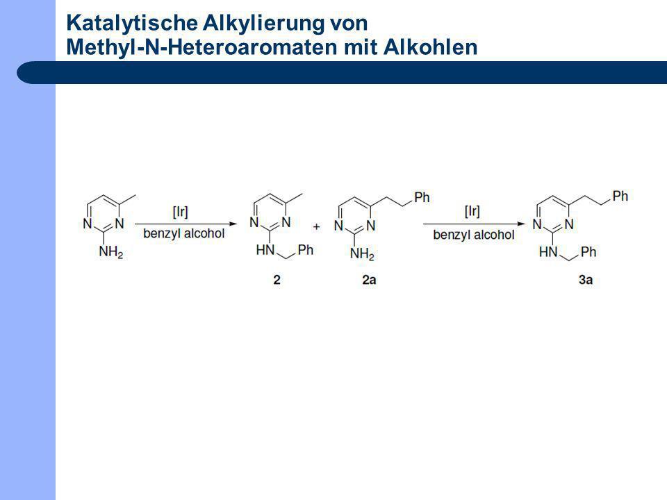 Katalytische Alkylierung von Methyl-N-Heteroaromaten mit Alkohlen
