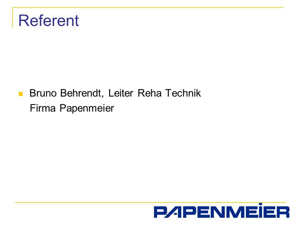 Referent Bruno Behrendt, Leiter Reha Technik Firma Papenmeier
