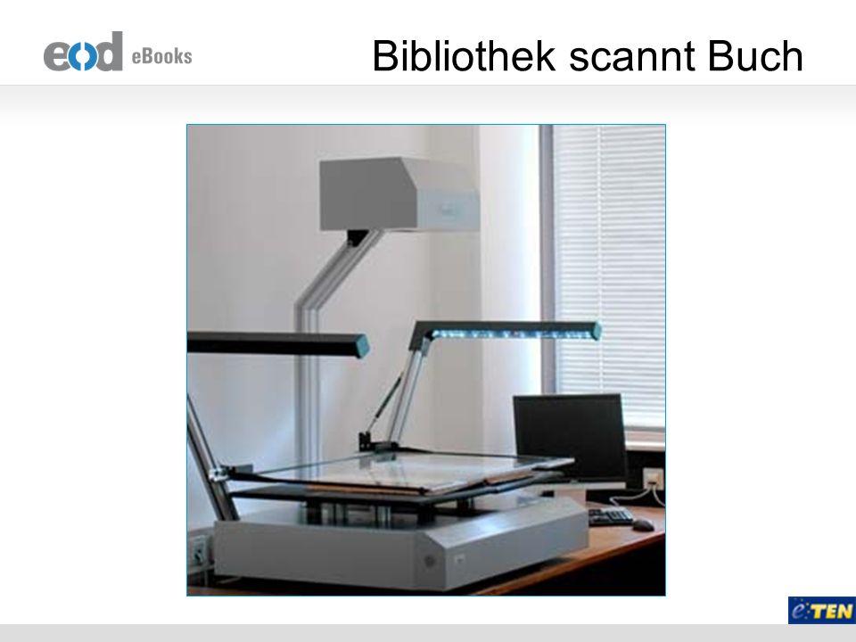 Bibliothek scannt Buch