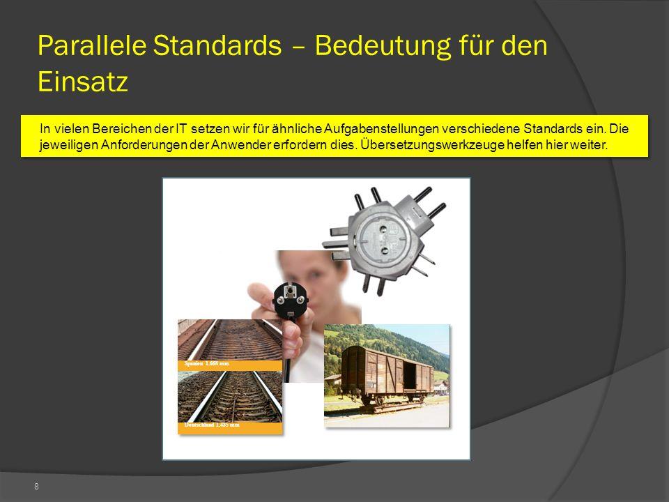 8 Parallele Standards – Bedeutung für den Einsatz