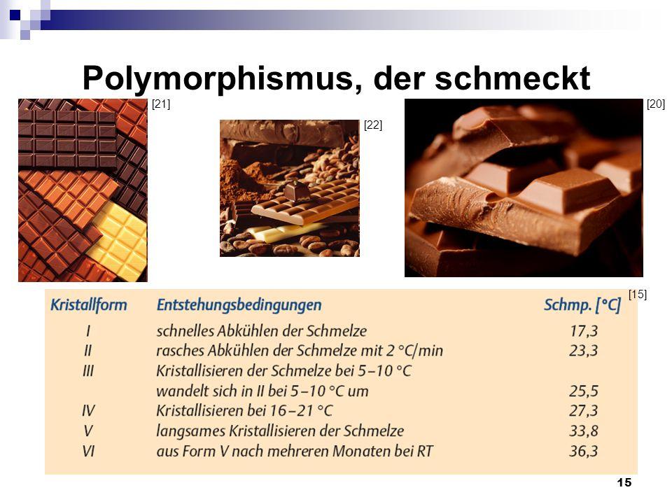 15 Polymorphismus, der schmeckt [15] [21] [22] [20]
