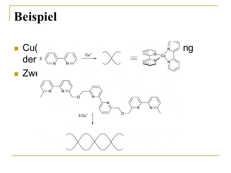 Beispiel Cu(I) d10 tetraedrische Anordnung der Liganden bevorzugt! Zweizähniger Ligand (Chelatligand)