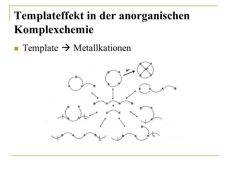 Templateffekt in der anorganischen Komplexchemie Template Metallkationen