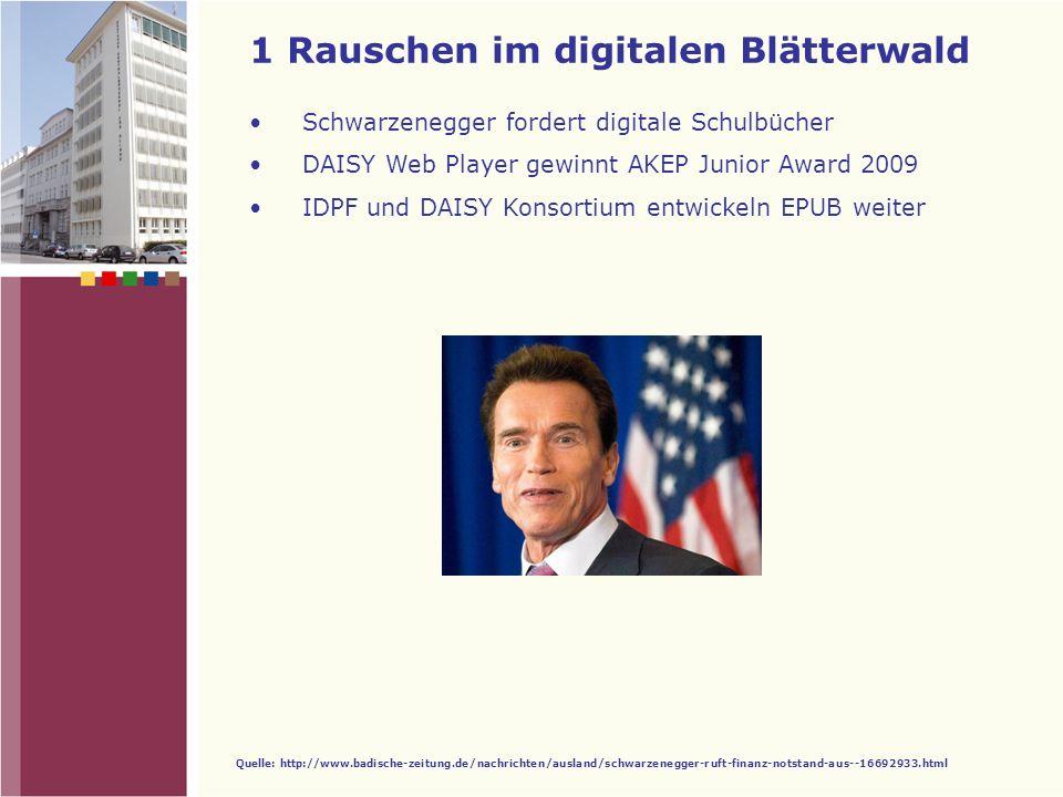 1 Rauschen im digitalen Blätterwald 2 Digitale Revolution 3 Kooperationen 4 Projekt Leibniz 5 DAISY Meilensteine Inhalt