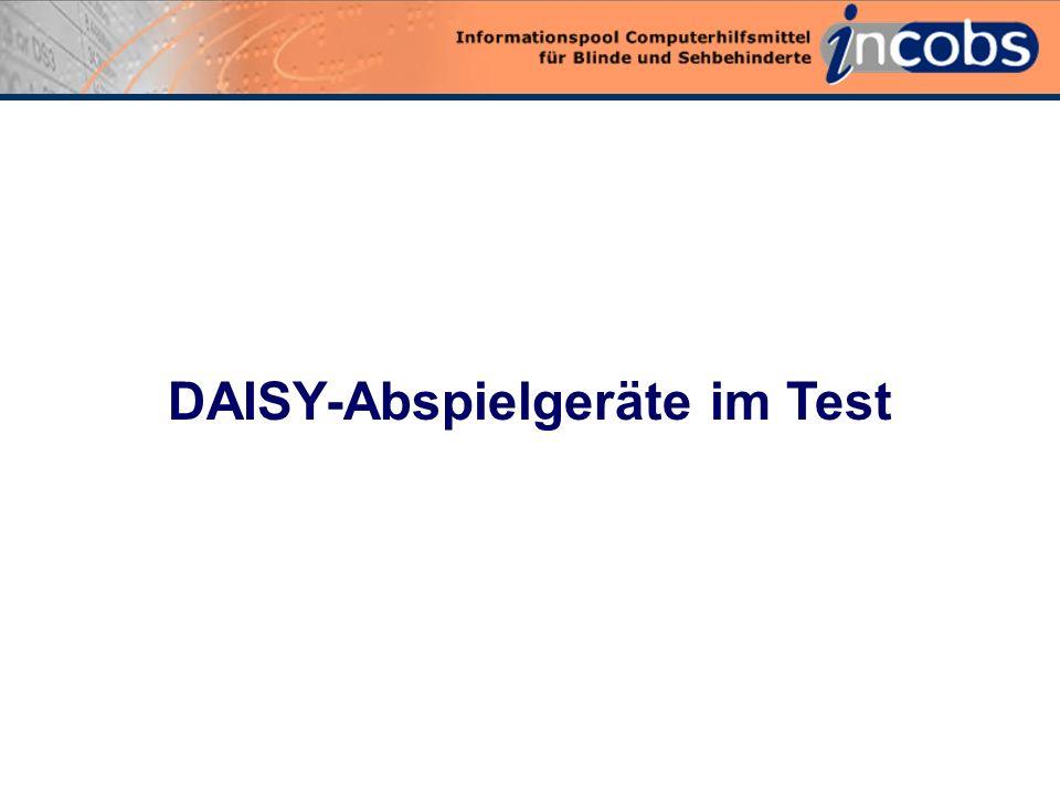 0 DAISY-Abspielgeräte im Test