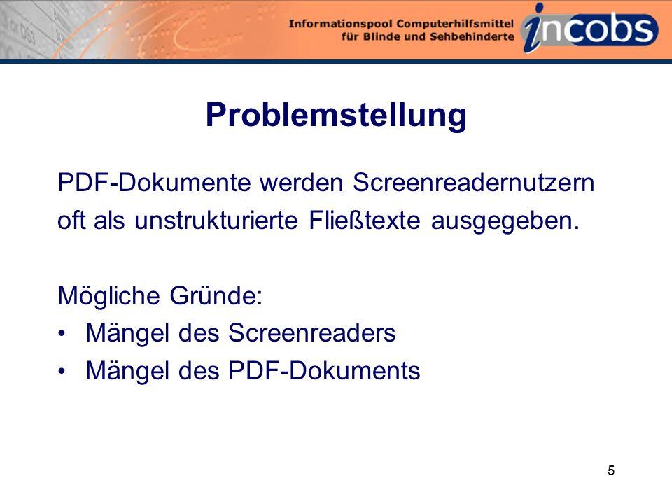 4 PDF-Dokumente und Screenreader