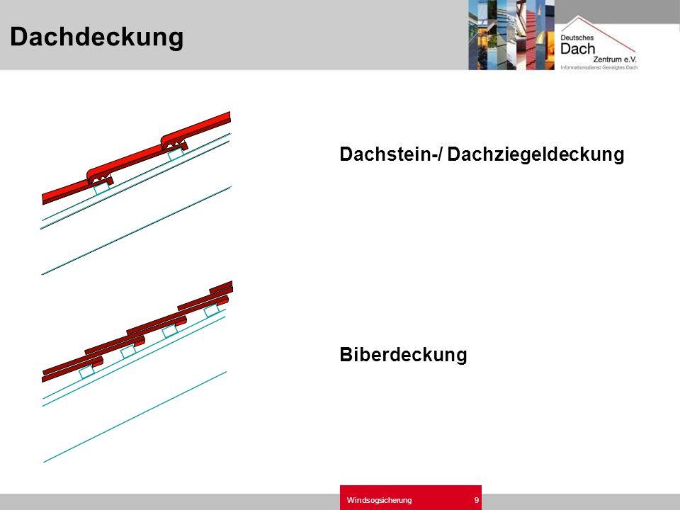 Windsogsicherung9 Dachstein-/ Dachziegeldeckung Biberdeckung Dachdeckung