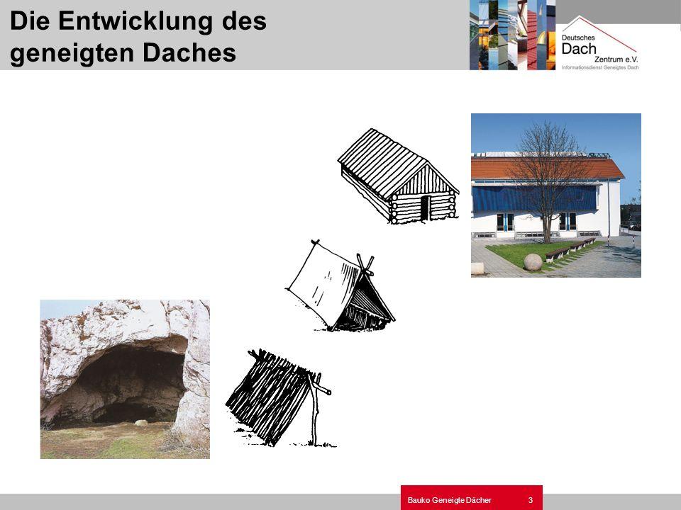 3Bauko Geneigte Dächer Die Entwicklung des geneigten Daches