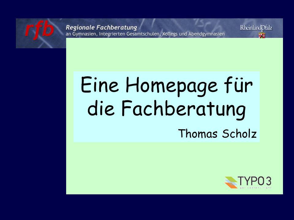 Eine Homepage für die Fachberatung 1.Wozu eine eigene Homepage erstellen.