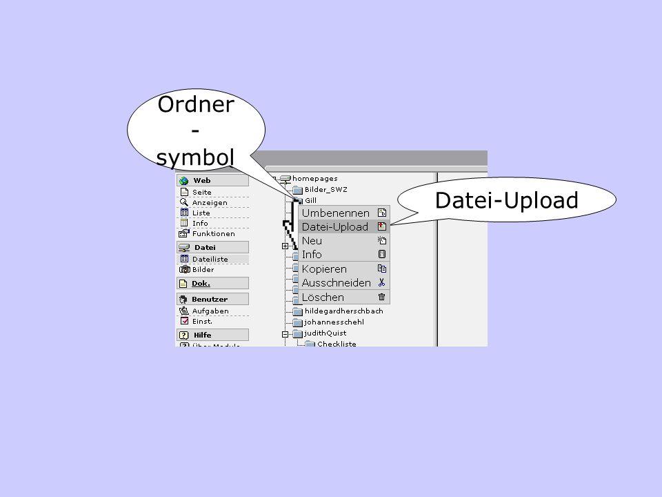 Ordner - symbol Datei-Upload