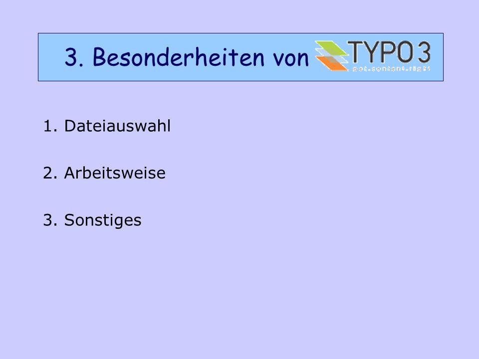 3.1 Erstellen Sie einen leeren Ordner A) In der ersten Spalte unter Datei auf Bilder oder Dateiliste klicken.